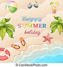 Summer vacation illustration.