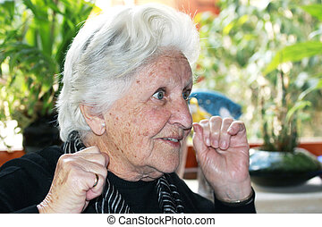 elderly with great expression
