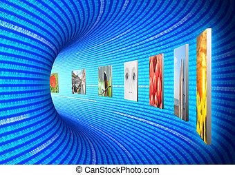 Internet HD media concept