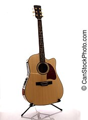 Accoustic Guitar - Six string accoustic guitar with wooden...