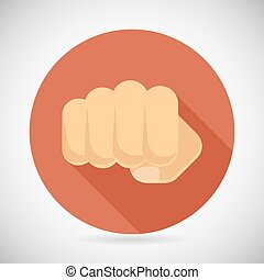 Punch Fist Hand Palm Icon Social Power Courage Determination...