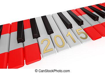 Eurovision, 2015, begriff, Klavier,