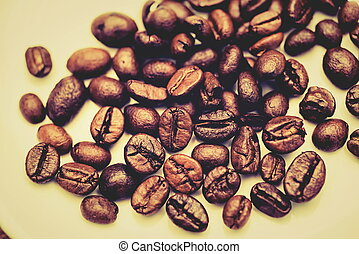 The coffee beans roasted to perfection. - Coffee beans that...