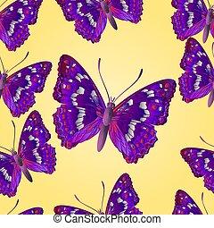 Seamless texture butterfly Apatura iris vector illustration...
