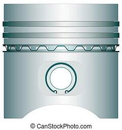 Piston - Engine piston icon for various design