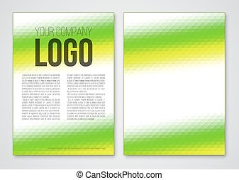 Abstract template - Abstract triangle green booklet a4...