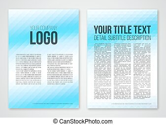 Abstract template - Abstract triangle blue booklet a4 vector...
