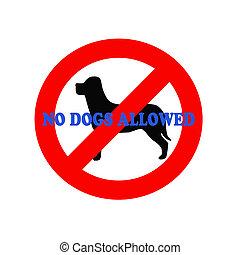 no dogs illustration