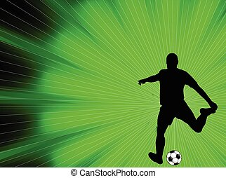 soccer player abstract background