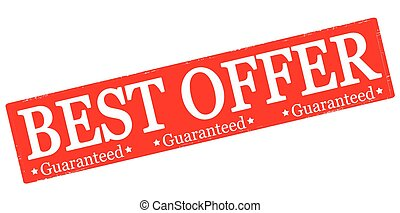 Best offer - Rubber stamp with text best offer inside,...
