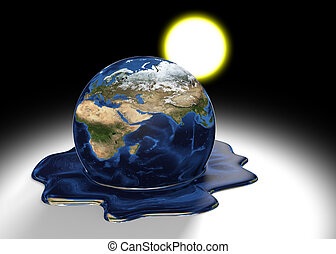 Global warming concept of Earth