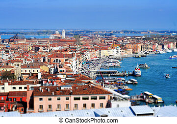 tilt-shift photography of Venice, Italy - tilt-shift...