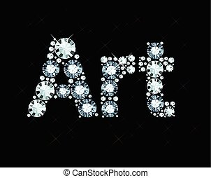 Diamond Word Art - Word art made of diamonds