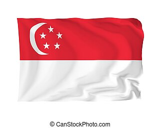 Flag of Singapore - Singapore High resolution Asian Flag...