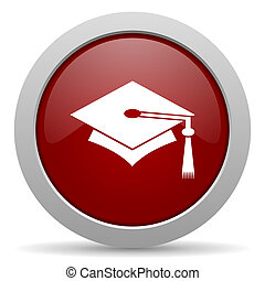 education red glossy web icon