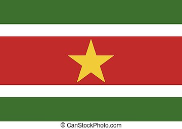 Suriname Flag - Flag of the South American country of...