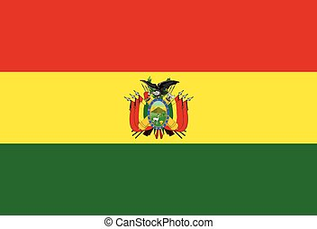 Bolivia - Flag of the South American country of Bolivia