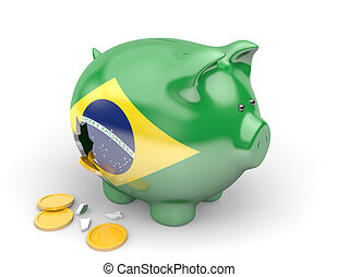 Brazil economy and finance concept for government spending...