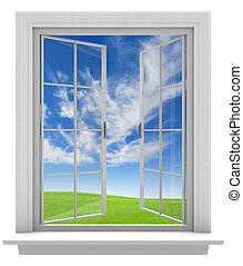 Open window allowing fresh air in - Open window allowing...