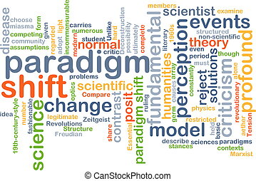 Paradigm shift wordcloud concept illustration - Background...
