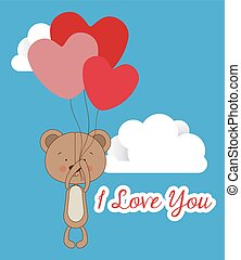 Love design over blue background, vector illustration