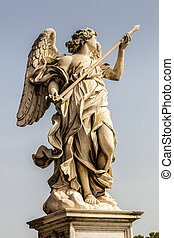 Statue of angel in Rome - Statue of angel at Sant Angelo...