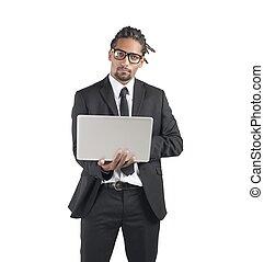 Handsome businessman - Elegant and handsome businessman...
