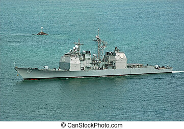The USS Lake Champlain is a Ticonderoga-class Guided Missile...