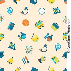 Seamless Pattern Education Icons