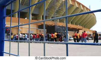 Soccer match entrance queue