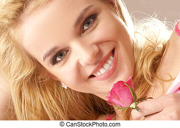 Attractive blond