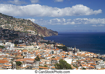 Funchal - view of Funchal, capital of the island of madeira,...