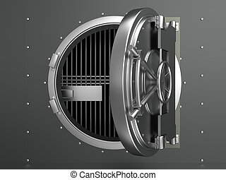 opened vault door