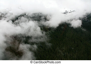 Mountains at Mendenhall Glacier, Alaska, USA - Helicopter...