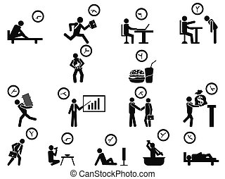 businessman time management iocns