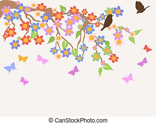 spring flower tree background