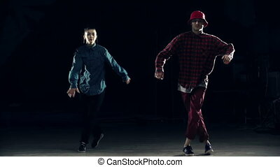 Street Dance - Two dancers performing synchronous movements