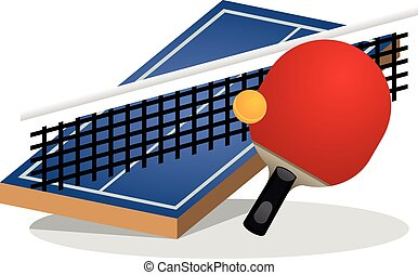 Table Tennis Field and Ball - This image is a table tennis...