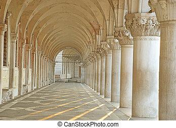 arcade, San Marco square in Venice