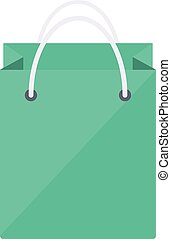 Shopping paper bag - Isolated icon pictogram Eps 10 vector...