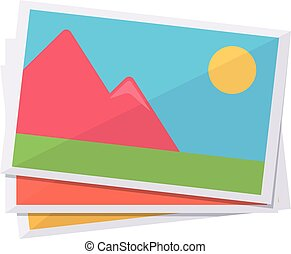 Images preview. - Isolated icon pictogram. Eps 10 vector...