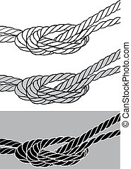 rope knot isolated on the grey background