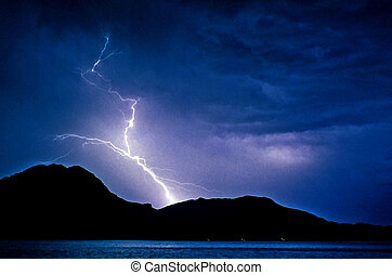baja lightning 2 - lightning strike at night