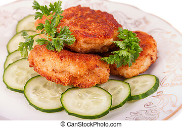Roasted Cutlets with Parsley and Cucumber - Roasted Cutlets...