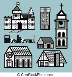 MEDIEVAL BUILDINGS - Many kinds of medieval architecture are...