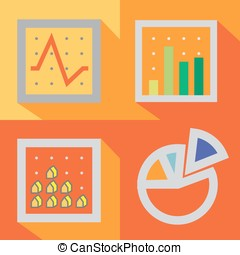 GRAPH - 4 types of graph in traditional style are create...