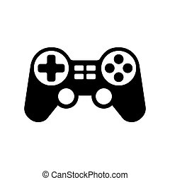 Gamepad Icon - Black Gamepad Icon on White Background....