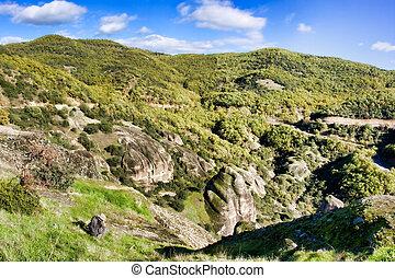 Meteora - Landscape at Meteora Monasteries in Trikala...