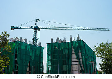 Derrick is used in the construction of tall buildings