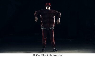 Popping Combination - Slow motion of hip hop dancer...